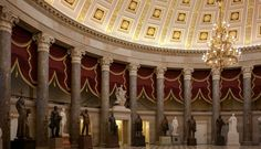 interior of the us capitol building   National Statuary Hall, also known as the Old Hall of the House, is ...