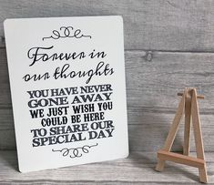 A5 Metal Wedding Memory Table Sign And Easel - BLACK