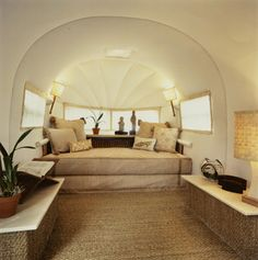 this so looks like the inside of a home not a trailer! Airstream interior by Just Joh / PROJECTS