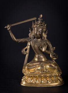 "A figure of Bodhisattva ""Manjusri"" China/Tibet, 19th Century"