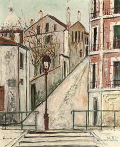 Montmartre, Maurice Utrillo. French (1883 - 1955)