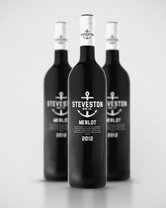 steveston wines with simplistic design and the nautical reference