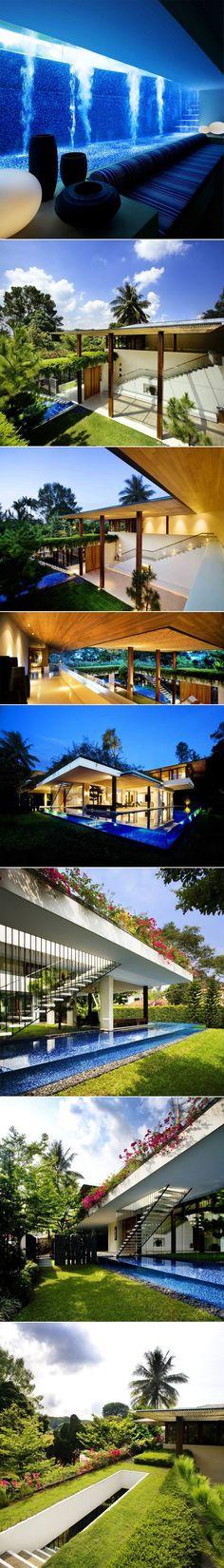 Tangga House par Guz Architects Guz Architects, agence spécialisée dans les maisons de luxe à Singapour, vient de signer cette magnifique réalisation situé