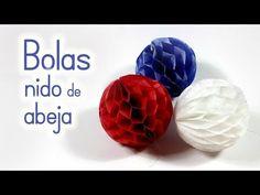 Manualidades: BOLAS (pompones) de Nido de Abeja para DECORAR - Innova Manualidades - YouTube