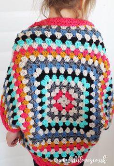 Lululoves - Crochet Granny Square Shrug