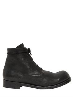 THE LAST CONSPIRACY - 30MM MATTE LEATHER LACE UP BOOTS - BOOTS - BLACK - LUISAVIAROMA