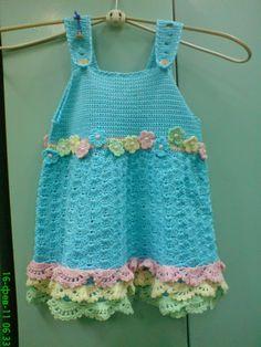 Sidney Artesanato: Vestido de crochet para uma linda Fadinha