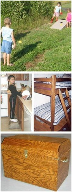 Free Children's Woodwork Projects from WayneOfTheWoods.com - Build your child a bean bag game, bunk beds, a doll house, a step stool, a toy box, a desk and more.