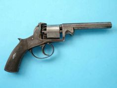 English Double Action Percussion Revolver by H. Yeomans, London