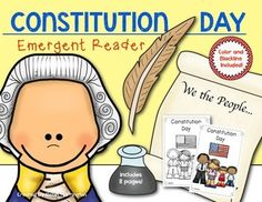 {Constitution Day} Reader for First Grade and Kindergarten. $