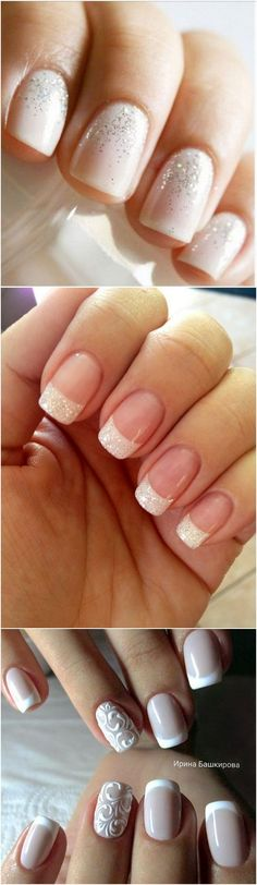 Wedding nail design ideas #wedding #bridalfashion #bridalnails