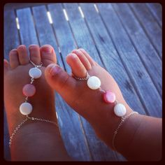 barefoot sandals, baby girl jewelry, baby barefoot sandals, baby anklet, baby shoes. $47.00, via Etsy.