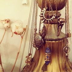 Awesome collection of #pamelalove necklaces displayed beautifully