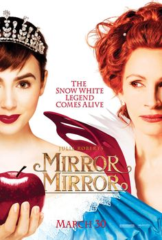 Mirror Mirror , starring Lily Collins, Julia Roberts, Armie Hammer, Nathan Lane. An evil queen steals control of a kingdom and an exiled princess enlists the help of seven resourceful rebels to win back her birthright. #Adventure #Comedy #Drama #Family #Fantasy