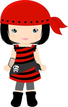 GRAFOS-GirlsCostumes - Minus Pirate Birthday, Pirate Theme, Cute Images, Cute Pictures, Bing Images, Images Pirates, Pirate Clip Art, Girl Pirates, Cute Clipart