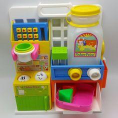 Fisher Price Toddler Kitchen 1008 1986 1980s Tabletop #FisherPrice