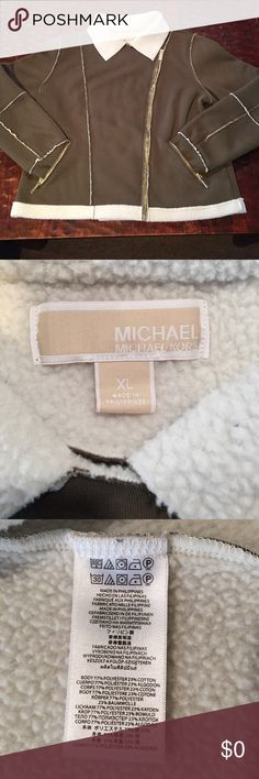 Spotted while shopping on Poshmark: XL Michael Kors Sherpa Lined Moto Jacket! #poshmark #fashion #shopping #style #MICHAEL Michael Kors #Jackets & Blazers