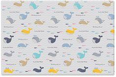 Parklon greensoft playmat Little Whale Plus Yellow Zigzag (2100 x 1400 x 15 cm, Large)