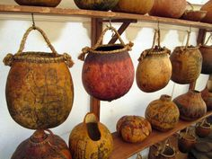 Decorated Gourds