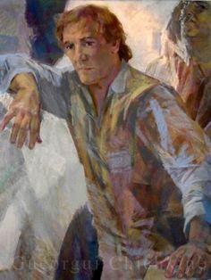 Georgy Shishkin Портрет французского актера Жерара Депардьё Painting, Art, Art Background, Painting Art, Kunst, Paintings, Performing Arts, Painted Canvas, Drawings