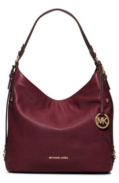 Free shipping and returns on MICHAEL Michael Kors 'Large Bedford' Shoulder Bag at Nordstrom.com. Belted straps and a dangling logo medallion underscore the street-savvy vibe of a slightly slouched hobo bag in rich, pebbled leather.