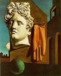 Giorgio De Chirico – The Song of Love, 1914 - It is the exemplary work of metaphysical painting De Chirico founded. This is one of the most famous paintings created by the Italian master, and it is usually considered the pre-surrealist work, because it was painted ten years before Breton established the style.