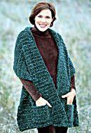 Image of Knit or Crochet Plush Pocket Wrapfree pattern