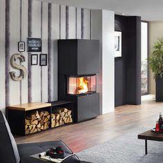 Kaminofen Osorno Hersteller: Olsberg Verkleidung: Stahl Schwarz dreiseitige Kaminscheibe Nennwärmeleistung: 8 kW Wirkungsgrad > 80 % Brennstoff: Holz
