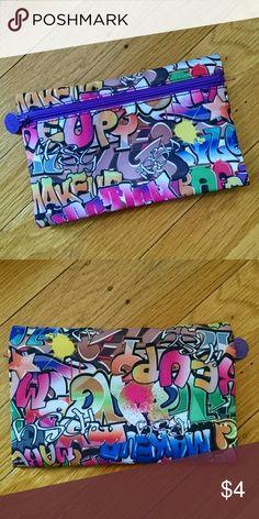 Ipsy makeup bag Ipsy makeup bag with graffiti print. Bags Cosmetic Bags & Cases