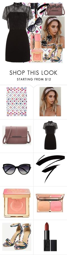 """""""Romwe Fashion"""" by astylejourney ❤ liked on Polyvore featuring Sandro, La Perla, Too Faced Cosmetics and Oscar de la Renta"""