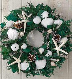 Seashell, Starfish and Pine Cone Wreath