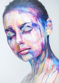 Genius work: faces as optical illusions by photographer Alexander Khokhlov & makeup artist Valeriya Kutsan - Blog of Francesco Mugnai