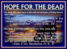John 5:28, 29; John 3:16; Revelation 21:4, 5