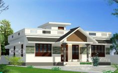 Lakhs Cost Estimated Double Storied Home – Amazing Architecture Magazine Row House Design, Kerala House Design, Dream Home Design, Home Design Plans, Architecture Magazines, Amazing Architecture, Best Small House Designs, Flat Roof House, Architectural Services