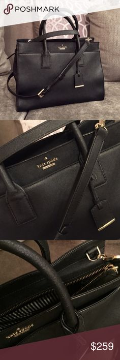 Kate Spade bag Kate Spade New York Black Handbag with gold hardware, gently used but GREAT condition - like new. Called 'cameron street - candace' leather satchel. kate spade Bags Crossbody Bags