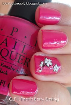O.P.I.--That's Berry Daring...what a pretty little manicure