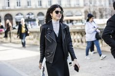 Paris Fashionweek day 3 | A Love is Blind, leather jacket, Leandra Medine before Dior FW 2015