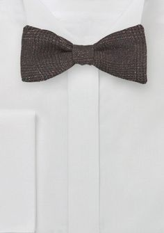 3cc18b42c3b Self Tie Wool Bow Tie in Dark Espresso