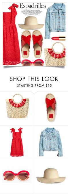 """""""Step into summer"""" by alaria ❤ liked on Polyvore featuring Hat Attack, Tory Burch, Max&Co., Paille and espadrilles"""