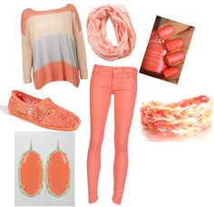 """""""coral"""" by taylorstiers on Polyvore"""