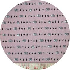 """Kokka, CANVAS, Tiny Hedgehogs Pink  Fabric is sold by the 1/2 Yard. For example, if you would like to purchase 1 Yard, enter 2 in the Qty. box at Checkout. Yardage is cut in one continuous piece when possible.  Examples:  1/2 yard = 1 1 yard = 2 1 1/2 yards = 3 2 yards = 4   1/2 Yard Measures ~18"""" x 44/45""""  Fiber Content: 85% Cotton/15% Linen  Hover over image for a larger, better view."""