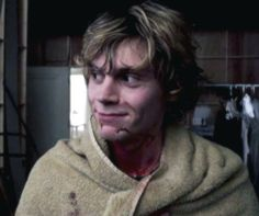 Evan Peters. Cute even when covered in blood.
