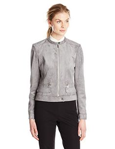 Calvin Klein Women's Career Suede Jacket -- You can get additional details at the image link.