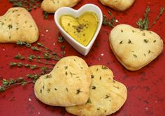 Heart-shaped Focaccia Bread recipe from The Café Sucré Farine. With rosemary & sea salt. Love it!