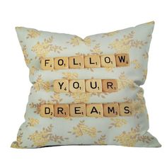 Happee Monkee Follow Your Dreams Pillow