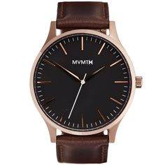 The 40 - Rose Gold/Brown Leather | MVMT Watches