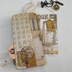 Pocket Envelopes, Vintage Tags, Hang Tags, Beautiful Clothes, Tag Art, Journalism, Junk Journal, Scrapbooking Ideas, Mini Albums