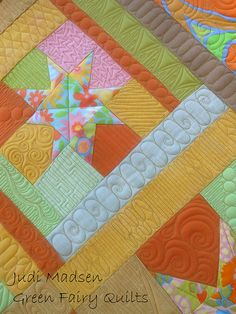 Green Fairy Quilts, Judi Madsen- I love the quilting designs!!!!