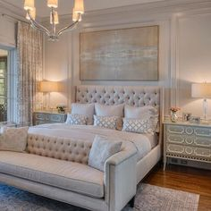 46 Stunning Luxury Bedroom Design Ideas To Get Quality Sleep bedroom decor Simple Bedroom Design, Luxury Bedroom Design, Master Bedroom Design, Interior Design, Bedroom Designs, Luxury Home Decor, Classy Bedroom Ideas, Master Suite, Glam Master Bedroom