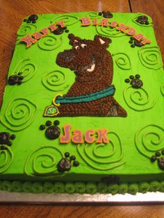 Scooby Doo Sheet Cake Scooby Doo Cake Brandon S Party